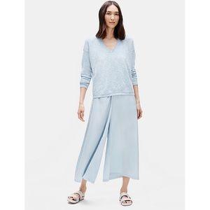 NWT Eileen Fisher Silk Cotton Culotte Pant Dawn L